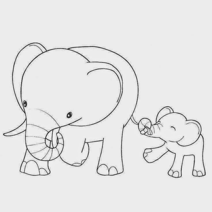 Fun learning with baby elephant coloring pages best diy Coloring book elephant
