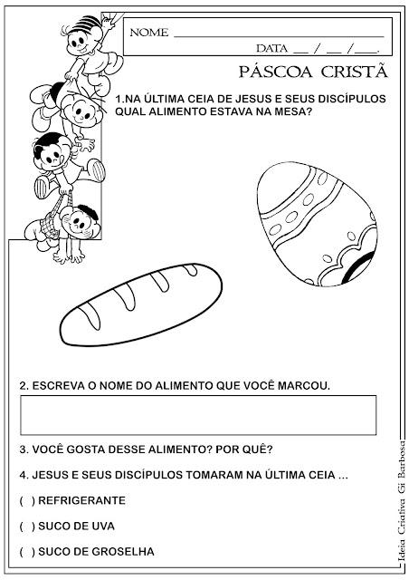 Atividade Páscoa Cristã Pão