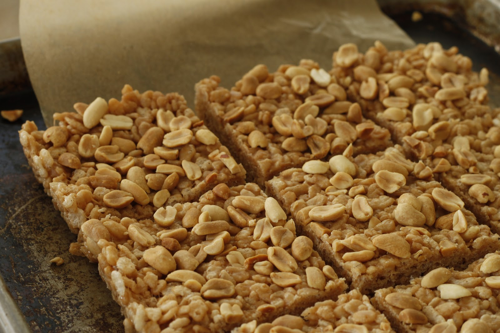 franish nonspeaker: Malted Peanut Butter Rice Crispy Treats