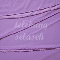 Telekung lycra ungu pastel jahitan karipap di tepi