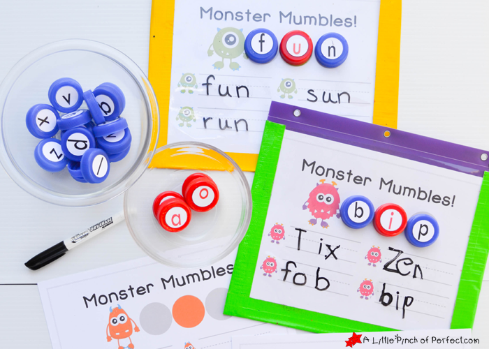 Monster Mumbles Phonics Game and Free Printable to Make Learning ...