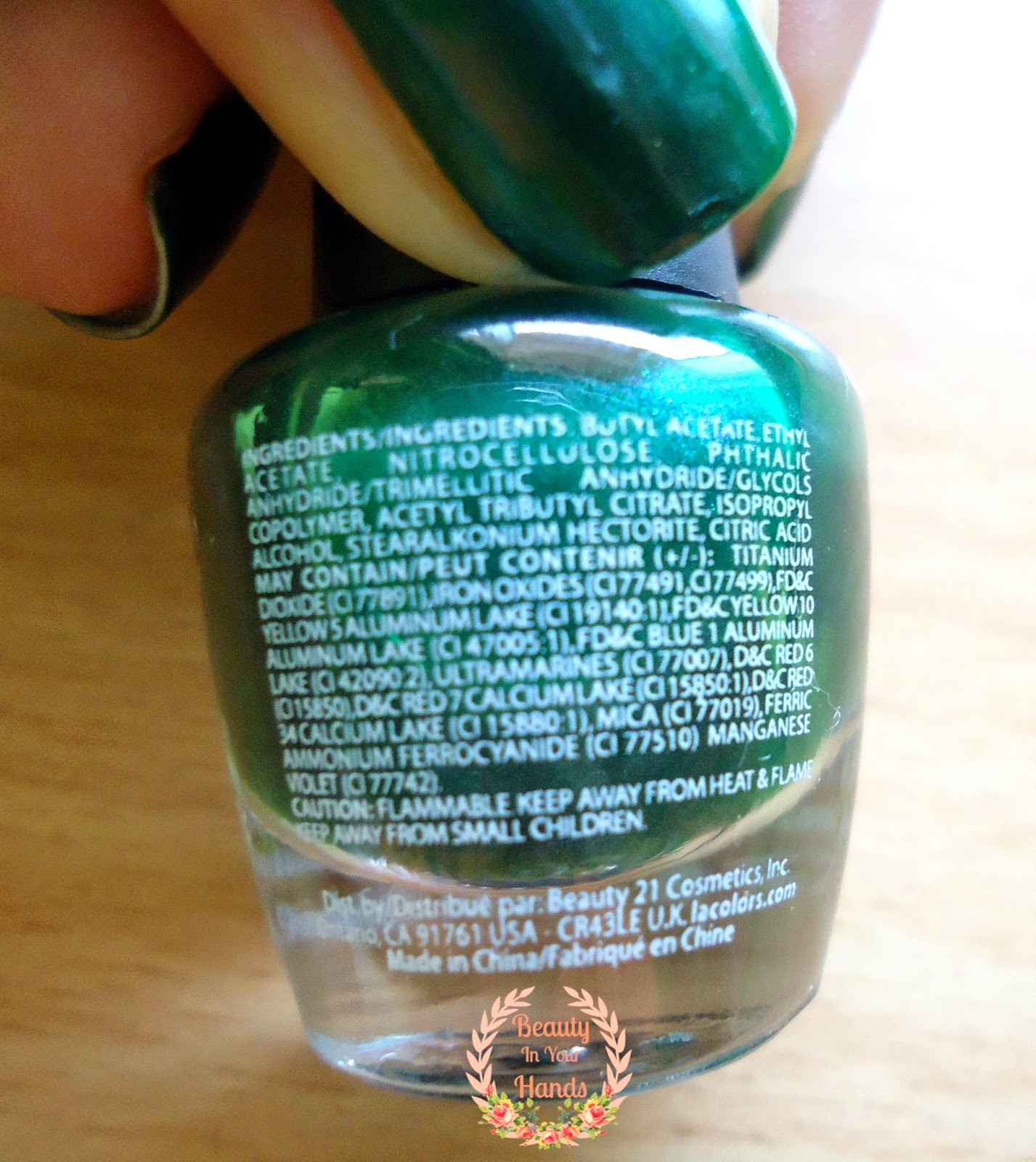 Beauty In Your Hands: L.A. Colors Color Craze nail polish with hardeners