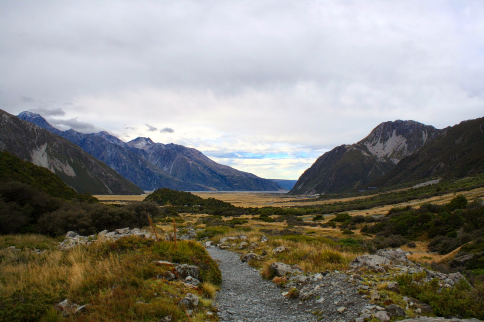 Going for a walk in Aoraki National Park.