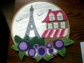Paris, Eiffel Tower, Felt Craft, Embroidery