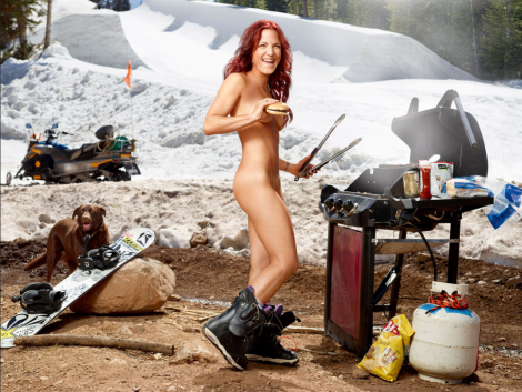 Naked Snowboarder in ESPN 2013 Body Issue