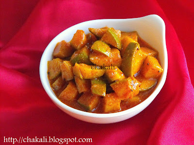 green mango pickle, mango pickle, Indian mango pickle, ambyache lonache, ambyache lonche, aam ka achaar