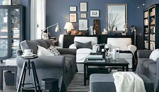 Gray living room IKEA
