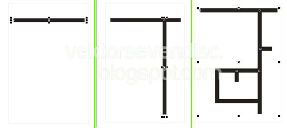 Tekan Ctrl kemudian buat garis horizontal sesuai denah yang akan ...