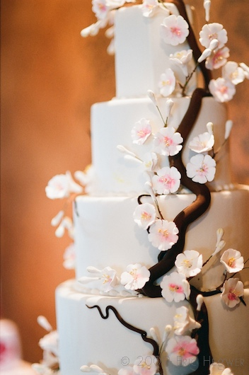 Cherry Blossom Themed Wedding Cake Food Serve a pink cocktail such as pink