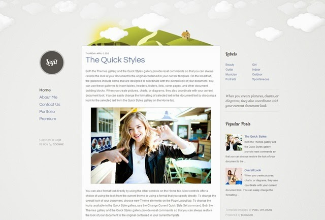 Legit Free Blogger Template Download