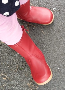 What LM Wore - Bobux Splash Boots in Brick