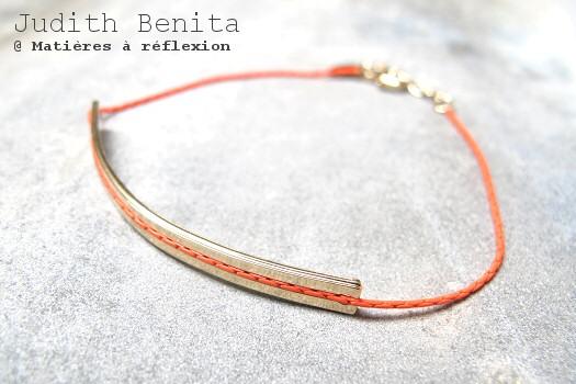 Bracelet rouge fluo Judith Benita paris