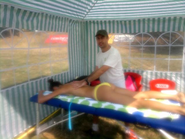 Maseur la turneul internaţional de volei CEV Beach Volleyball Satellite Timisoara 2015