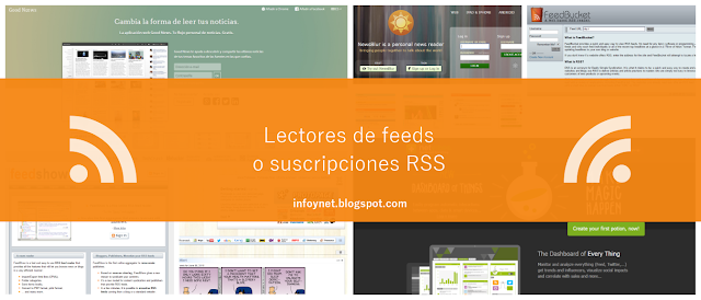Lectores de feeds o suscripciones RSS