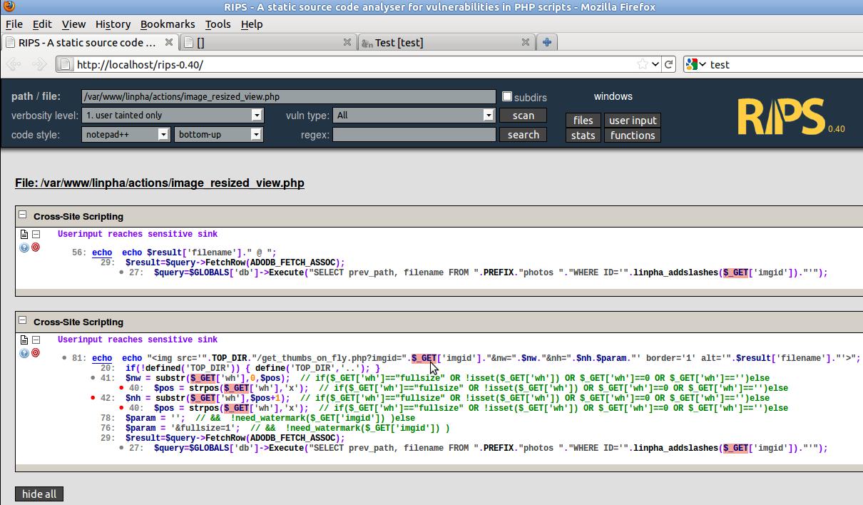Php static code analysis