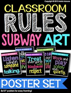 Classroom Rules Subway Art