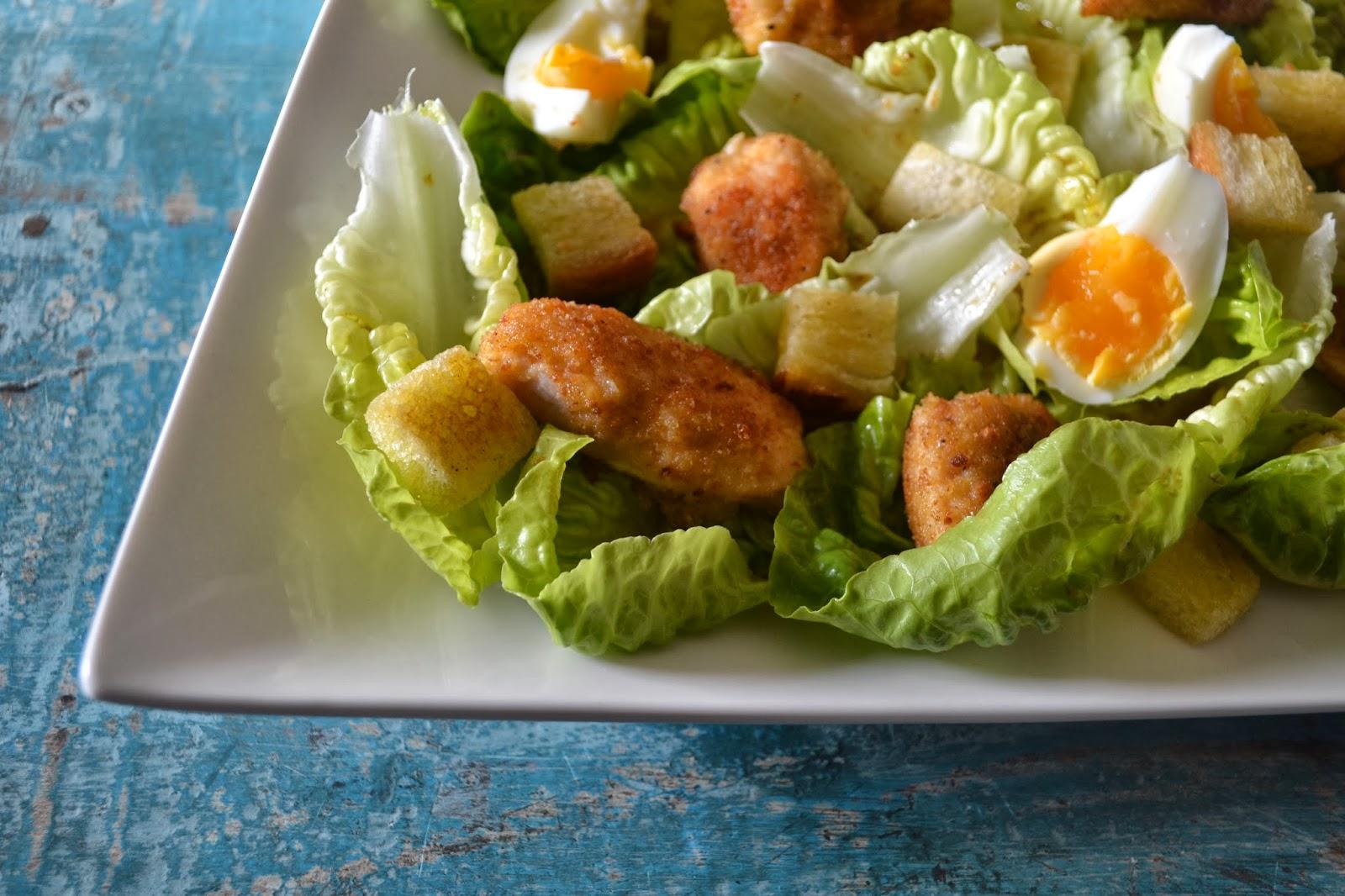 Voorkeur Mijn kookavonturen: Caesar salade met krokante kip #AE16