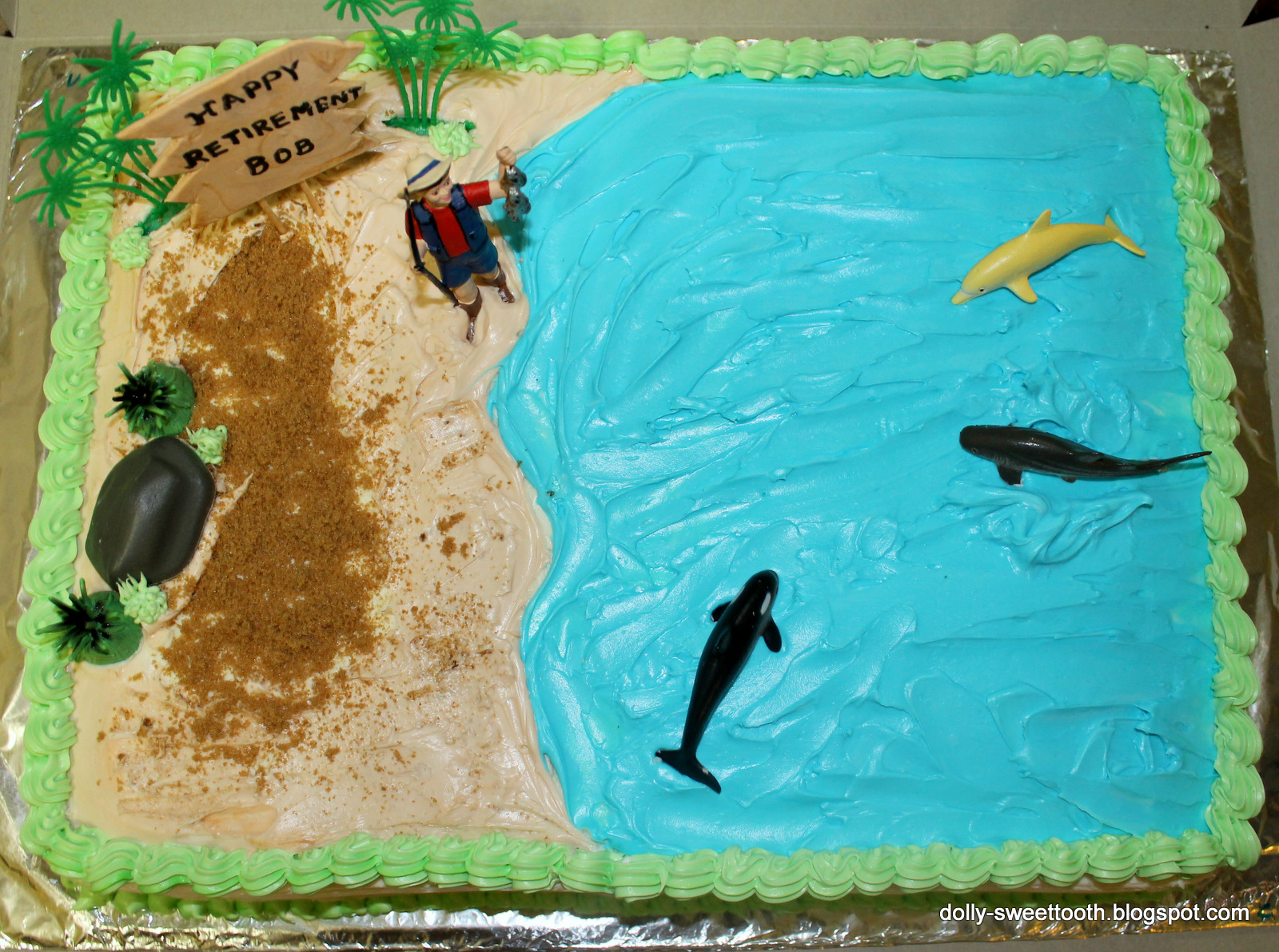 Curry And Beyond: Cake with a Fishing Theme- Retirement Cake
