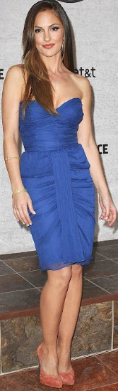 Minka Kelly hot in Blue Dress Photo shoot