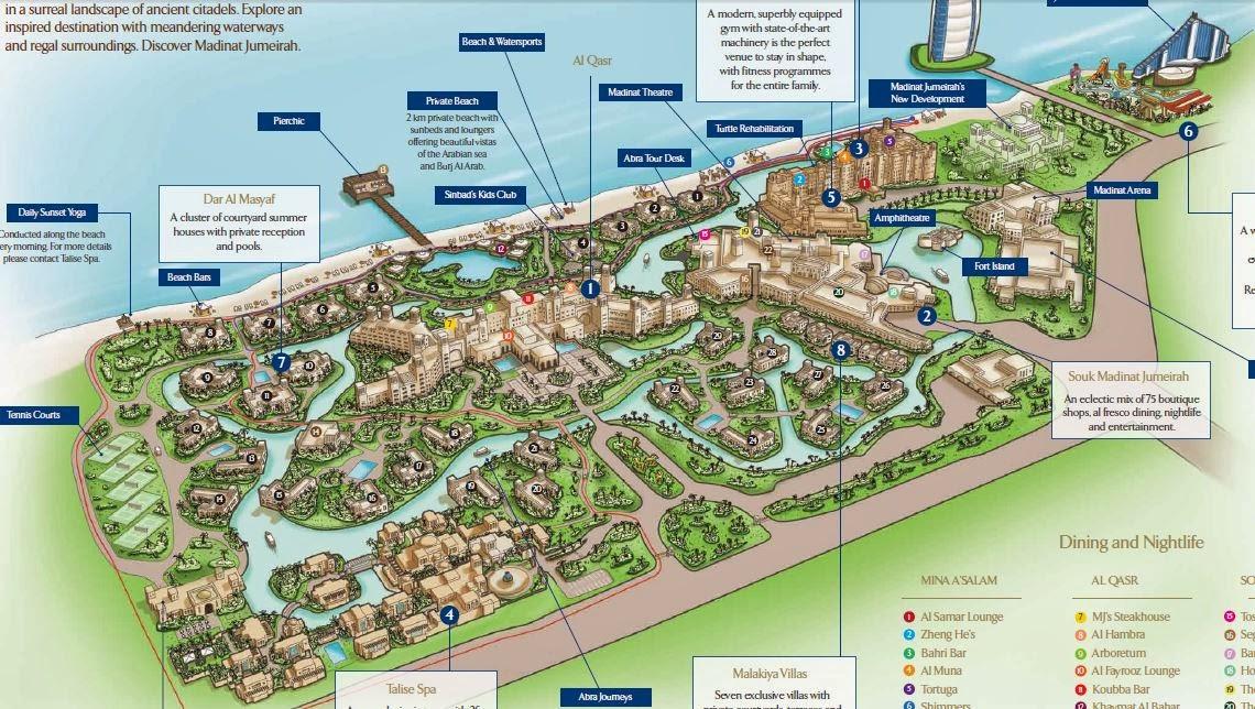 Madinat Jumeirah карта