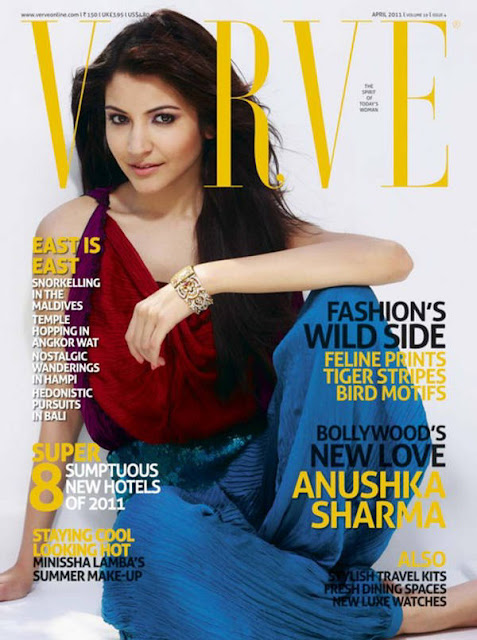 Anushka Sharma on the cover of Verve magazine - April 2011