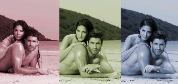 Sunny Leone - Hot Golden Bikini Photoshoot For Adiction Deo