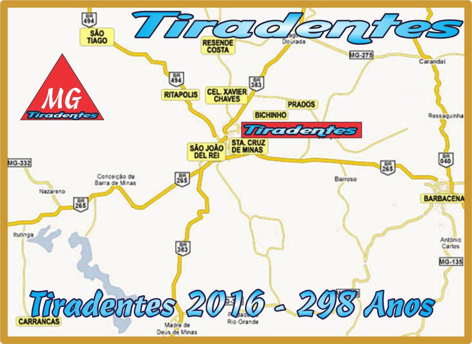 Localização de Tiradentes