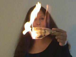 trik sulap uang terbakar