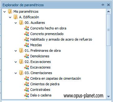 Opus Planet Matrices paramétricas integradas directamente en el sistema