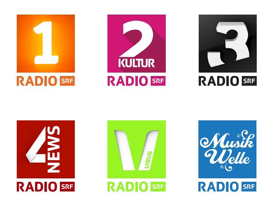 The Branding Source: New logos: SRF radio channels