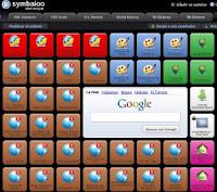 Imaxe de webmix en Symbaloo con recursos de materias de  ciencias sociais (Galicia)