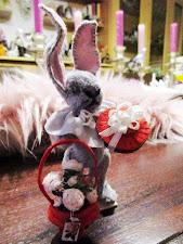 Auch der Hasen-Liebesbote ist unterwegs....am Valentinstag...
