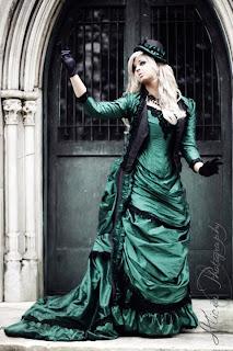 Romantic Alternative Wedding Dresses Green Black Pictures