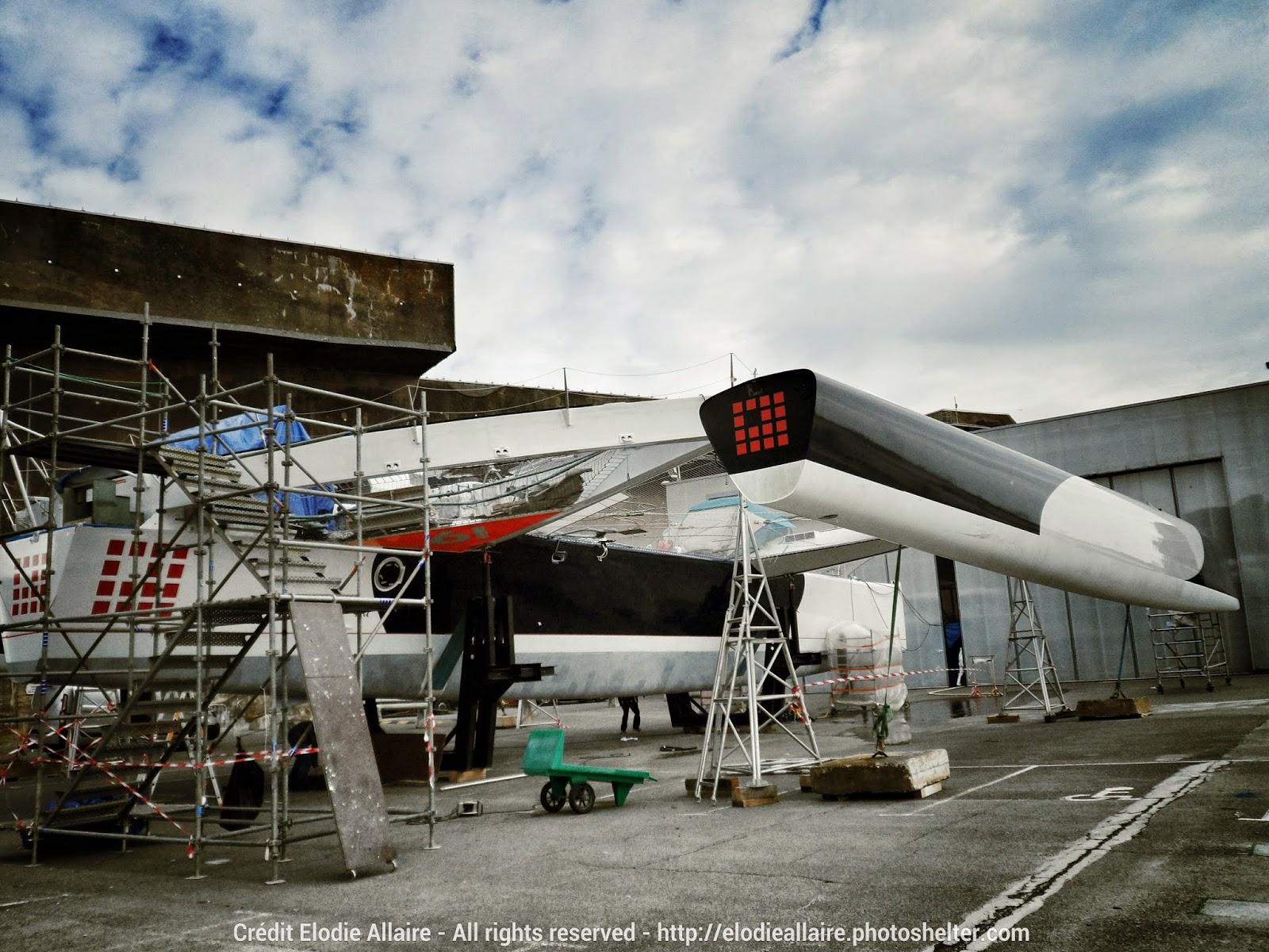 L'ex Banque Populaire VII actuellement en chantier à Lorient.