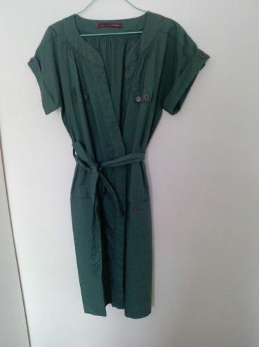 The g attic vente robe portefeuille verte comptoir des cotonniers - Robe verte comptoir des cotonniers ...