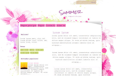 Summer Blogger Theme