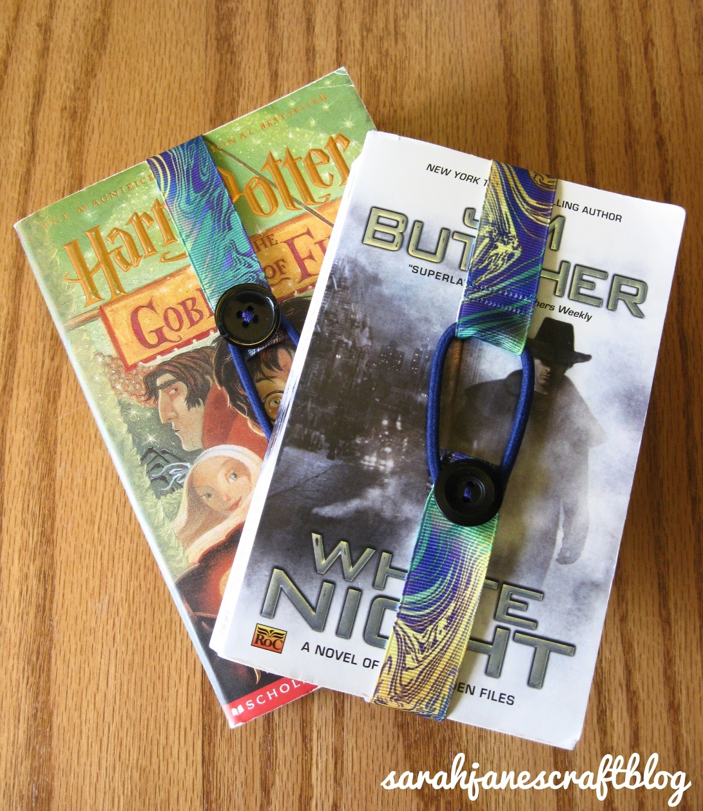 Sarah jane 39 s craft blog ribbon bookmarks for How to tie a ribbon on a bookmark