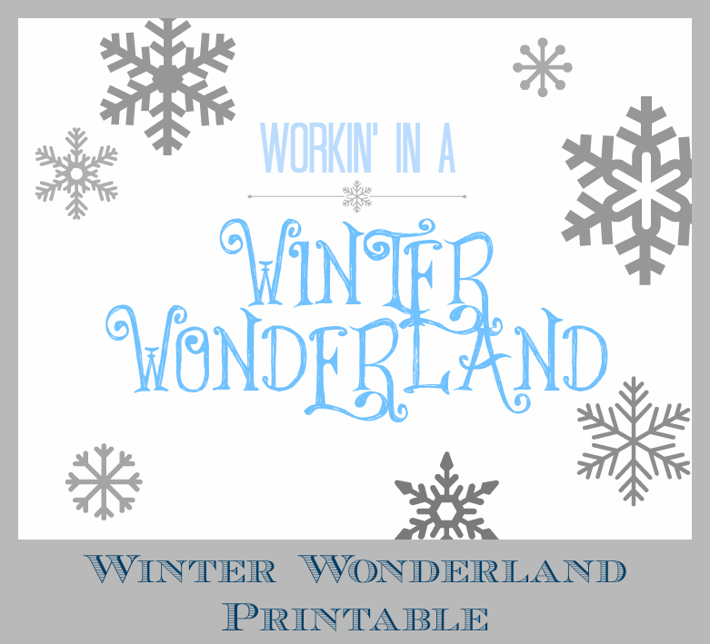 Workin' in a Winter Wonderland - perfect for work or your home office