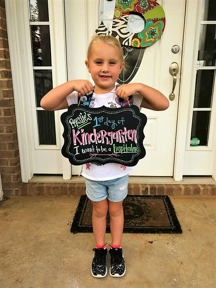 Preslie's 1st Day of Kindergarten