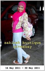 GA | Sakinah boutique 1st Giveaway