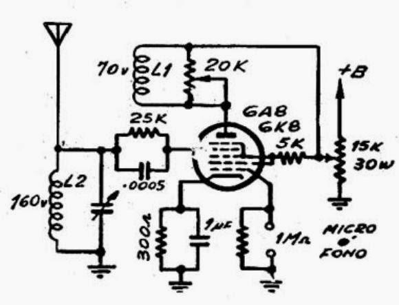 Circuito Oscilador : Electronica retro circuito transmisor am