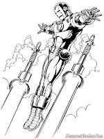 Iron Man Menghindar Dari Serangan Roket