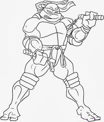 Ninja Turtles Michelangelo Coloring Pages