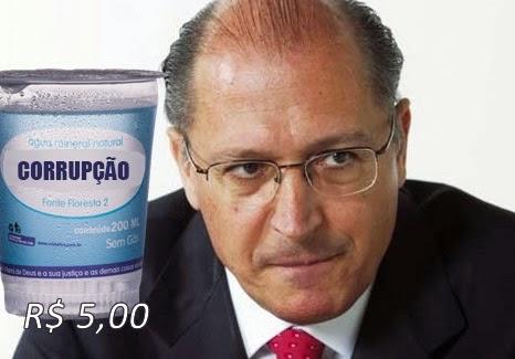 Alckmin vai pagar R$ 5,00 por copo de água de 200ml que custa menos de 30 centavos