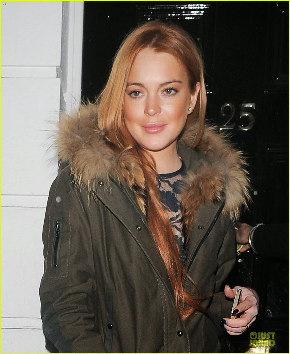 Celeb Diary Lindsay Lohan Out And About In London