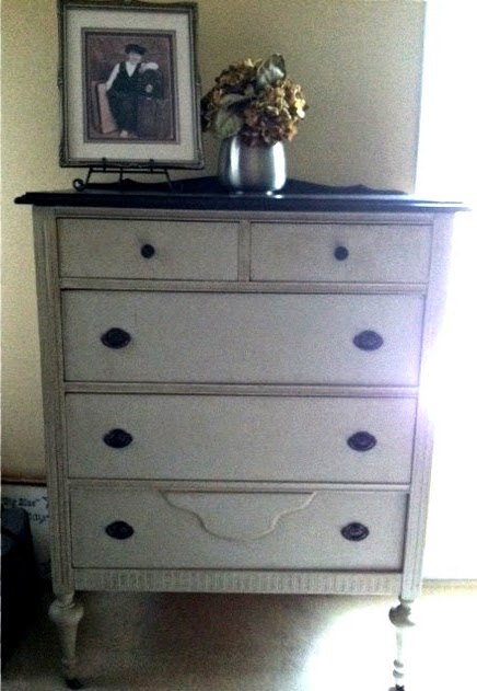 Chalk Painted Vintage Highboy Dresser
