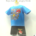 baju kartun motif angry birds