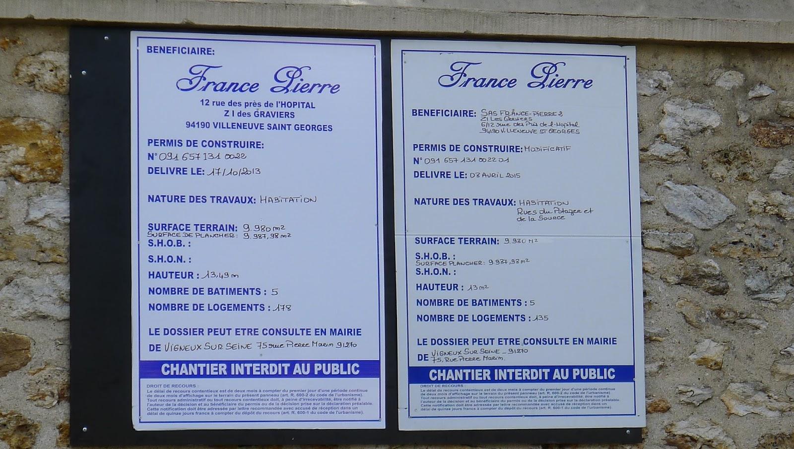 Actualit s citoyennes vigneux urgent parc de rouvres travaux en cours aba - Travaux sans autorisation ...