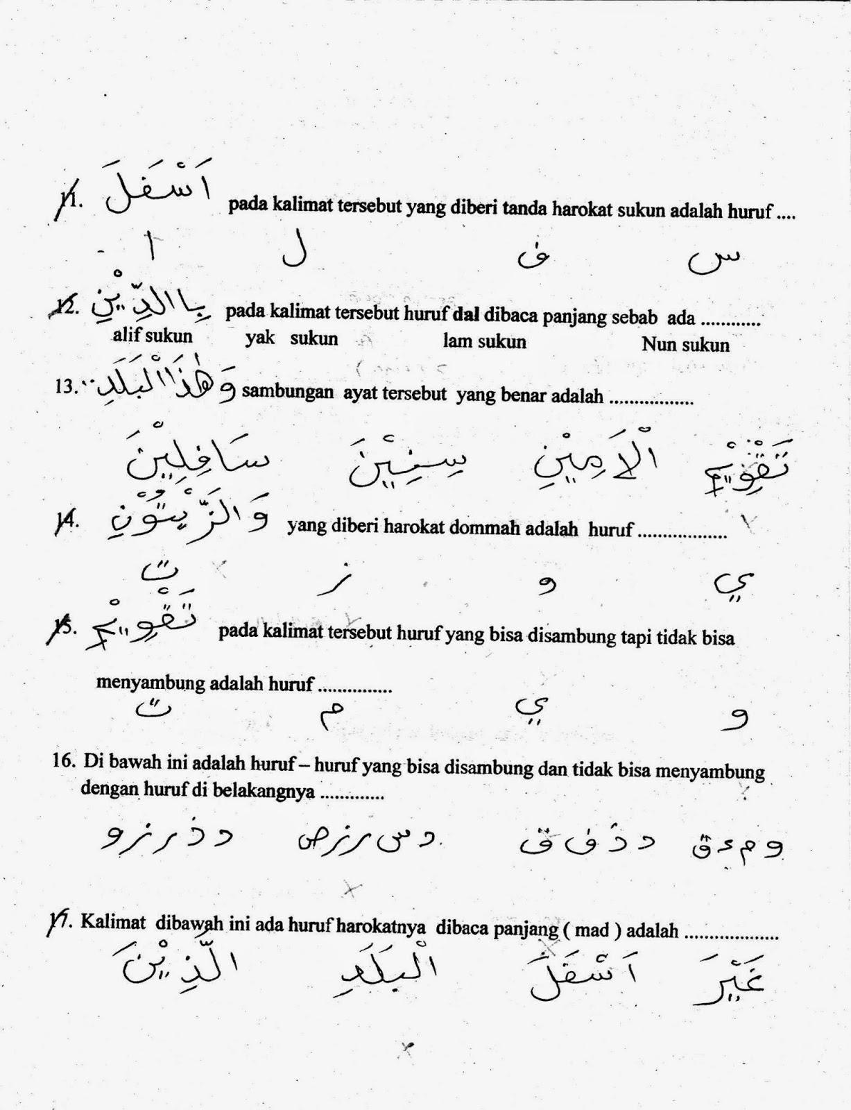 Uts Ke 1 Agama Islam Kelas 5 Sd Ta 2014 2015 Kurikulum 2015 Halaman 2 Sunarto S Kom