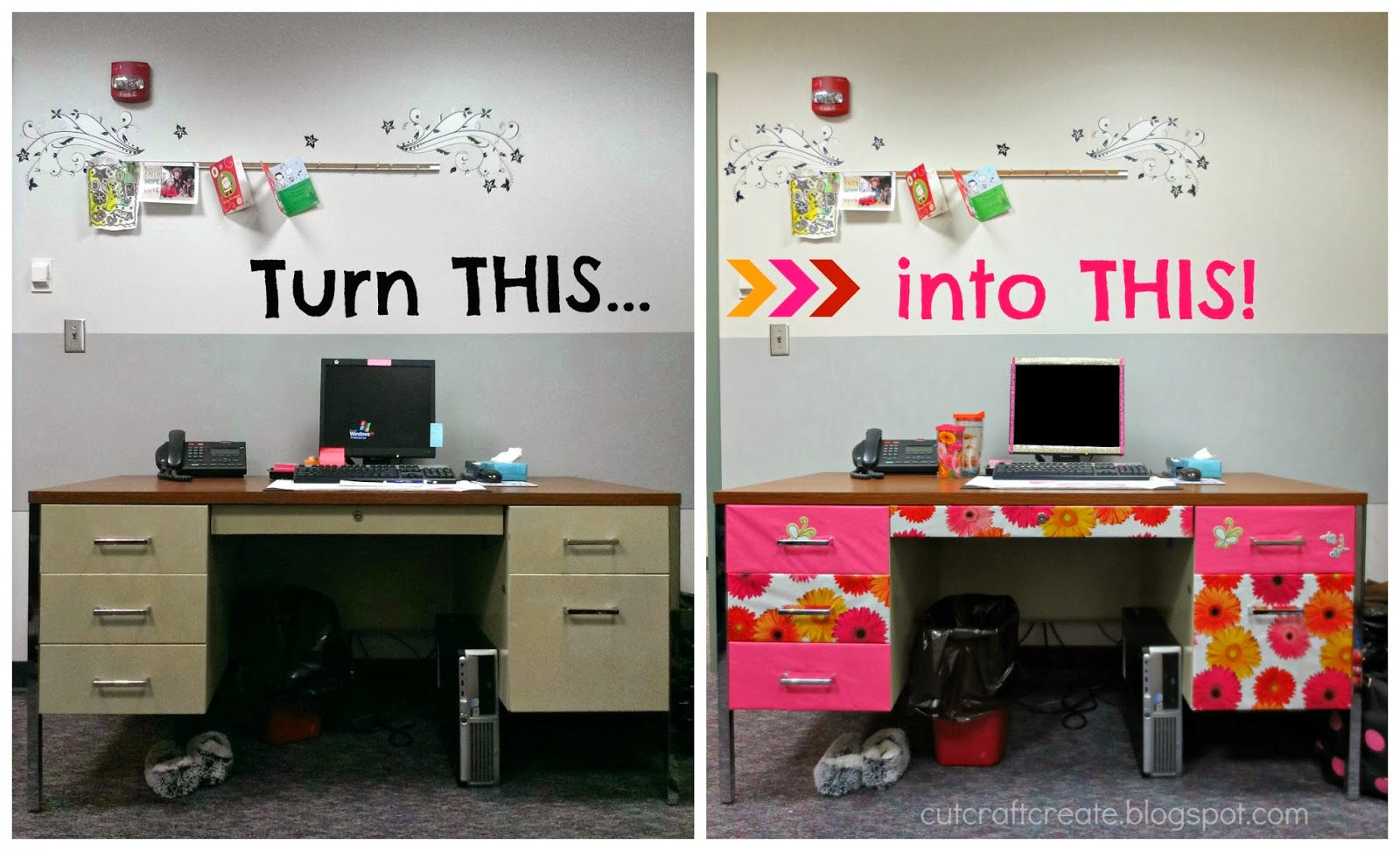This decorate your office space post will be featured in for How to decorate office desk